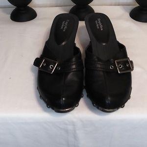 Vera Wang mules black with studs size 8